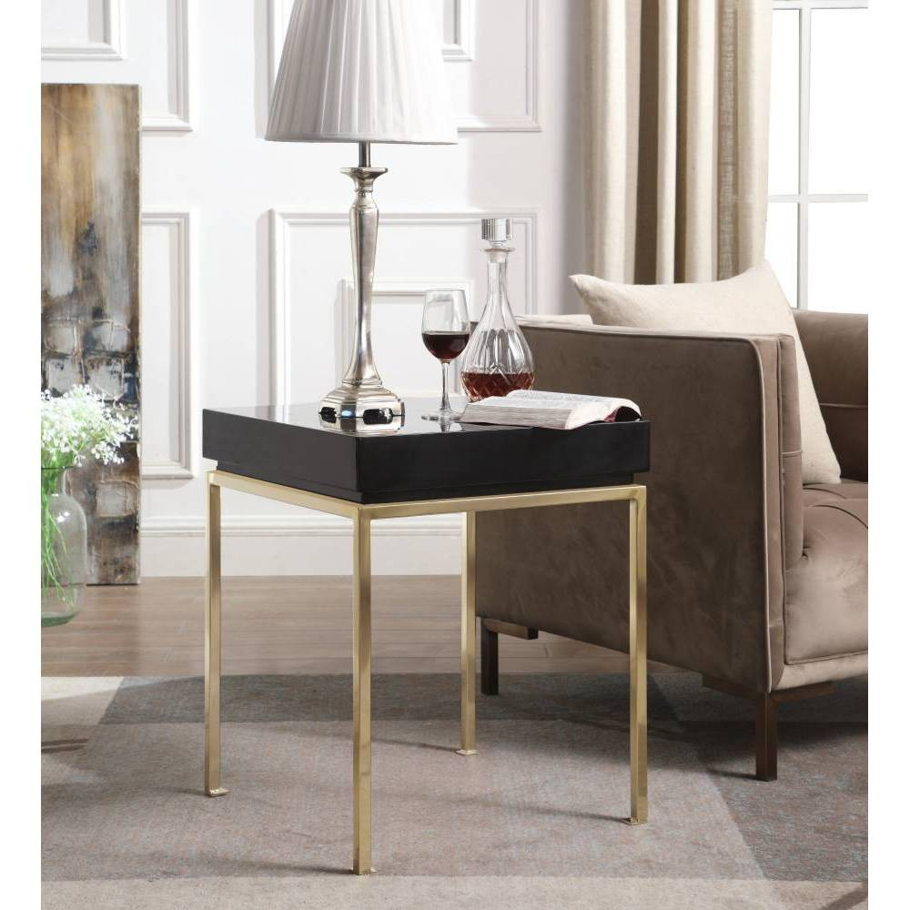 Sabrina Side Table Black - Chic Home Design was $329.99 now $197.99 (40.0% off)