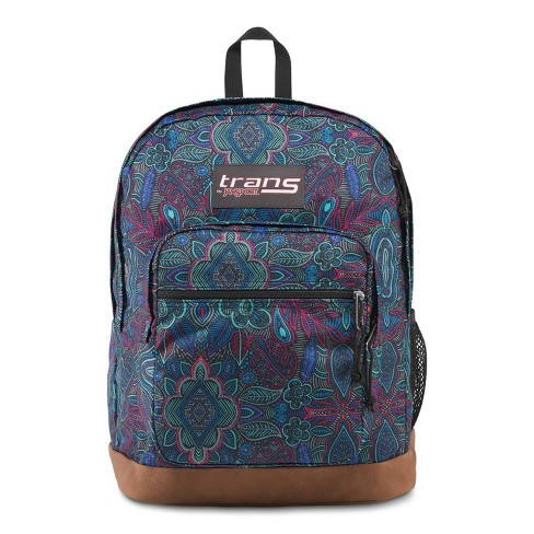 """Trans by JanSport 17"""" Super Cool Backpack - Peacock Garden - image 1 of 4"""