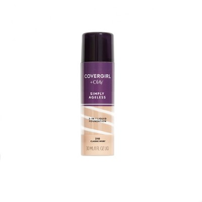 COVERGIRL + Olay Simply Ageless 3-in-1 Liquid Foundation with Hyaluronic Complex + Vitamin C - 1 fl oz