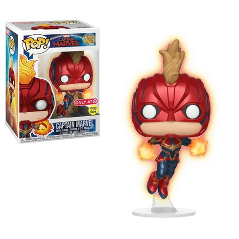Funko POP! Marvel: Captain Marvel - Glow In The Dark Flying Captain Marvel (Target Exclusive) - image 1 of 3