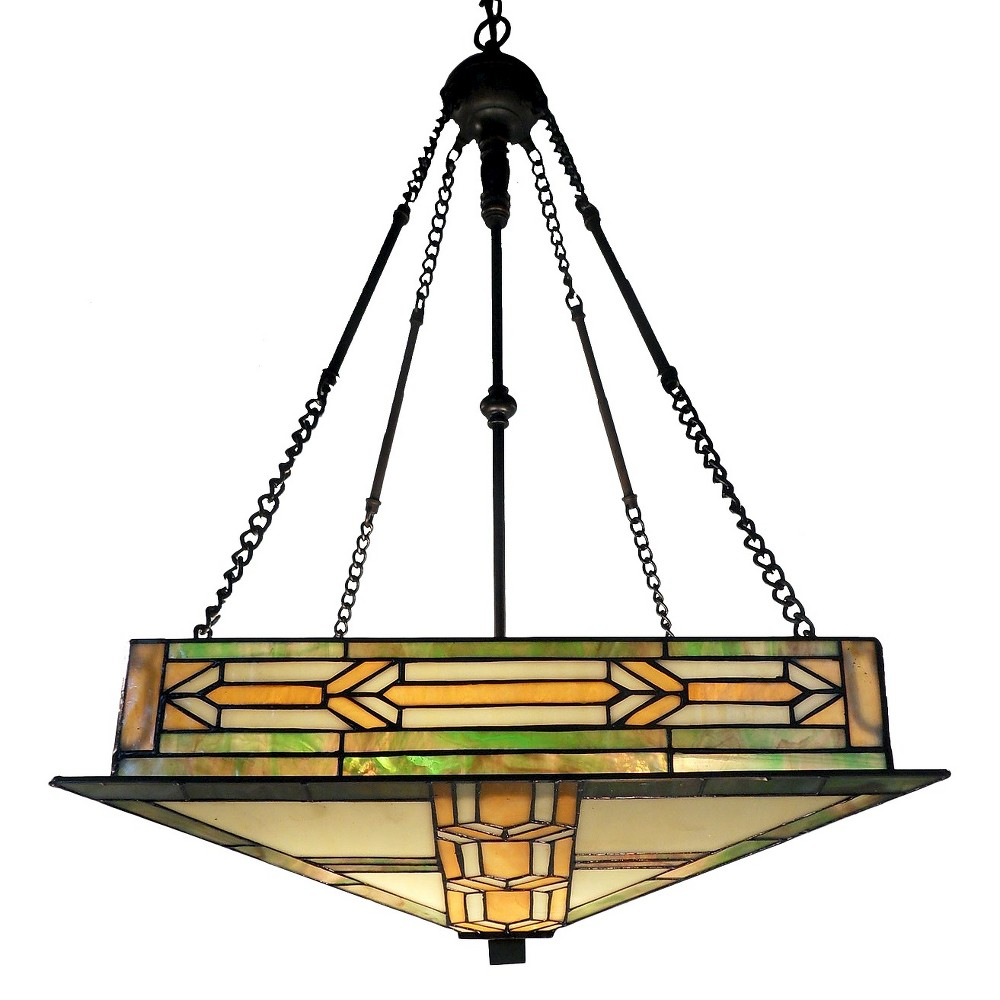 Mission Hanging Chandelier, Multi-Colored