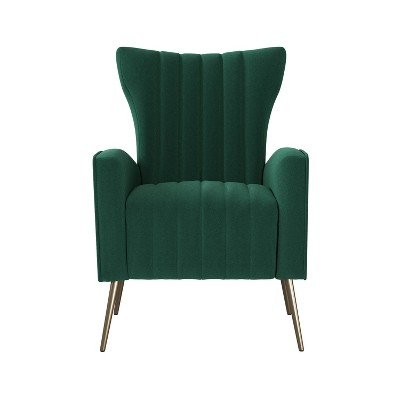 Gloucester Channel Tufted Armchair Velvet - Handy Living