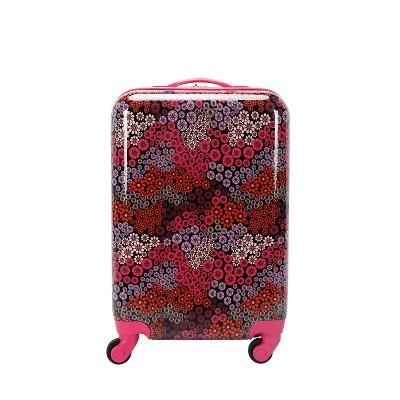 """Crckt 21"""" Kids' Hardside Carry On Spinner Suitcase - Berry Floral"""