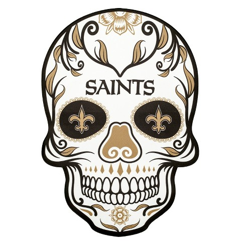 Nfl New Orleans Saints Small Outdoor Skull Decal Target