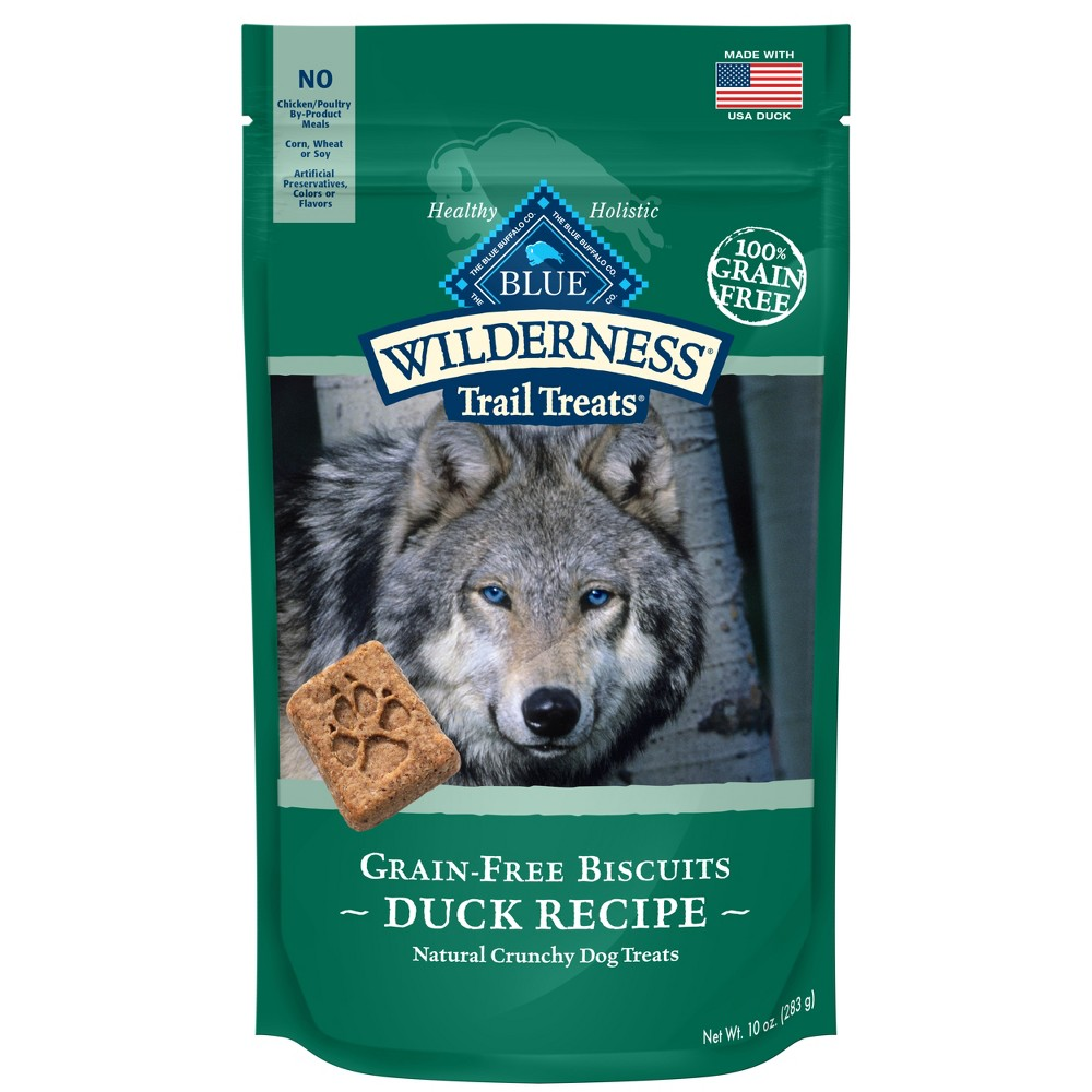 Blue Buffalo Wilderness 100% Grain-Free Biscuits Duck Recipe Crunchy Dog Treats - 10oz