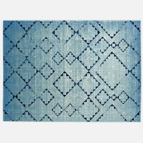Distressed Diamonds Outdoor Rug - Threshold™ - image 1 of 4