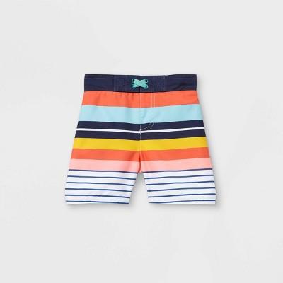 Toddler Boys' Retro Striped Swim Trunks - Cat & Jack™