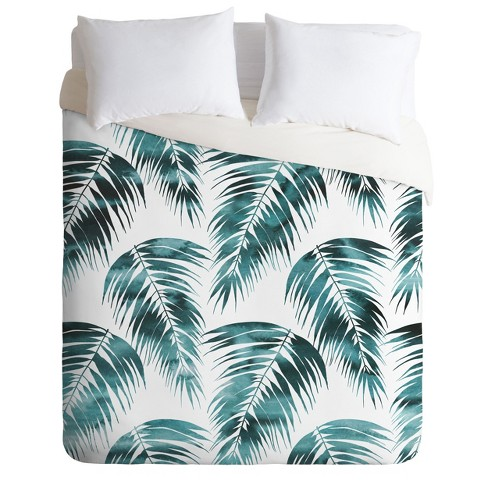 Schatzi Brown Maui Palm Leave Duvet Set - Deny Designs - image 1 of 2