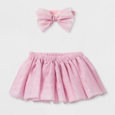 Baby Girls' Tutu and Headband Set - Cloud Island™ Pink
