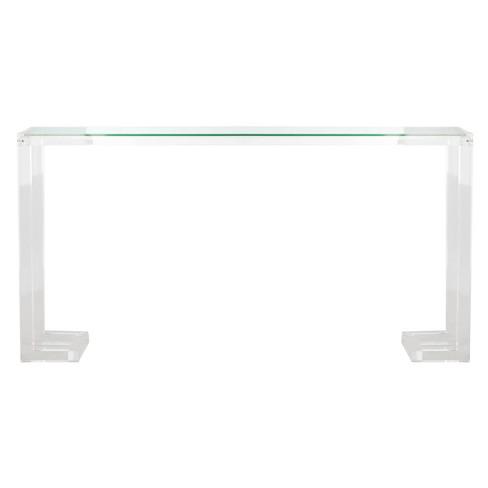 Peachy Benji Acrylic Console Table Clear Safavieh Spiritservingveterans Wood Chair Design Ideas Spiritservingveteransorg