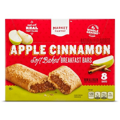 Apple & Cinnamon Cereal Bars 8ct - Market Pantry™