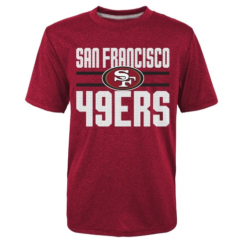 San Francisco 49ers Boys' Textured Gel Print Heathered T-Shirt - image 1 of 1