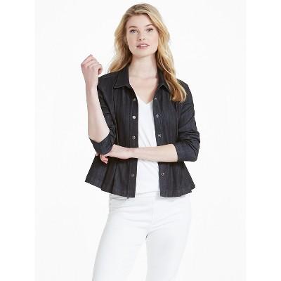 NIC+ZOE Women's Denim Peplum Jacket
