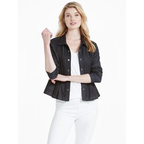 NIC+ZOE Women's Denim Peplum Jacket - image 1 of 4