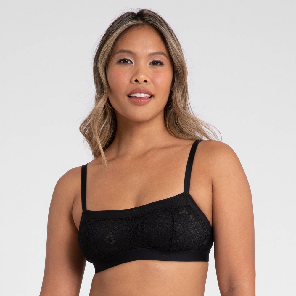 All You Lively Women 39 S Lace Straight Up Bralette Jet Black L