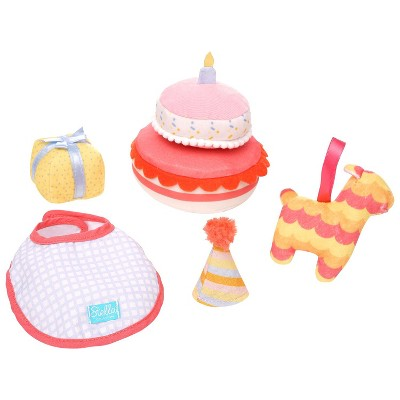 "Manhattan Toy Stella Collection Birthday Party 6 Piece Baby Doll Birthday Party Playset for 12"" and 15"" Stella Dolls"