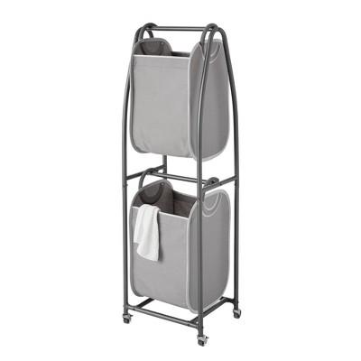 Neatfreak 2 Tier Rolling Vertical Laundry Sorter