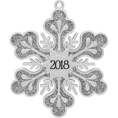 Harvey Lewis 2018 Snowflake Christmas Ornament with Crystals from Swarovski