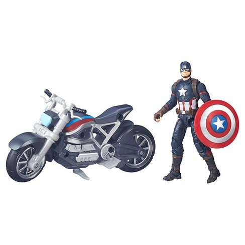 Marvel Legends Series Captain America and Motorcycle - image 1 of 3