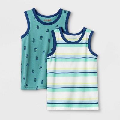 Toddler Boys' 2pk Jersey Knit Tank Top - Cat & Jack™ Blue