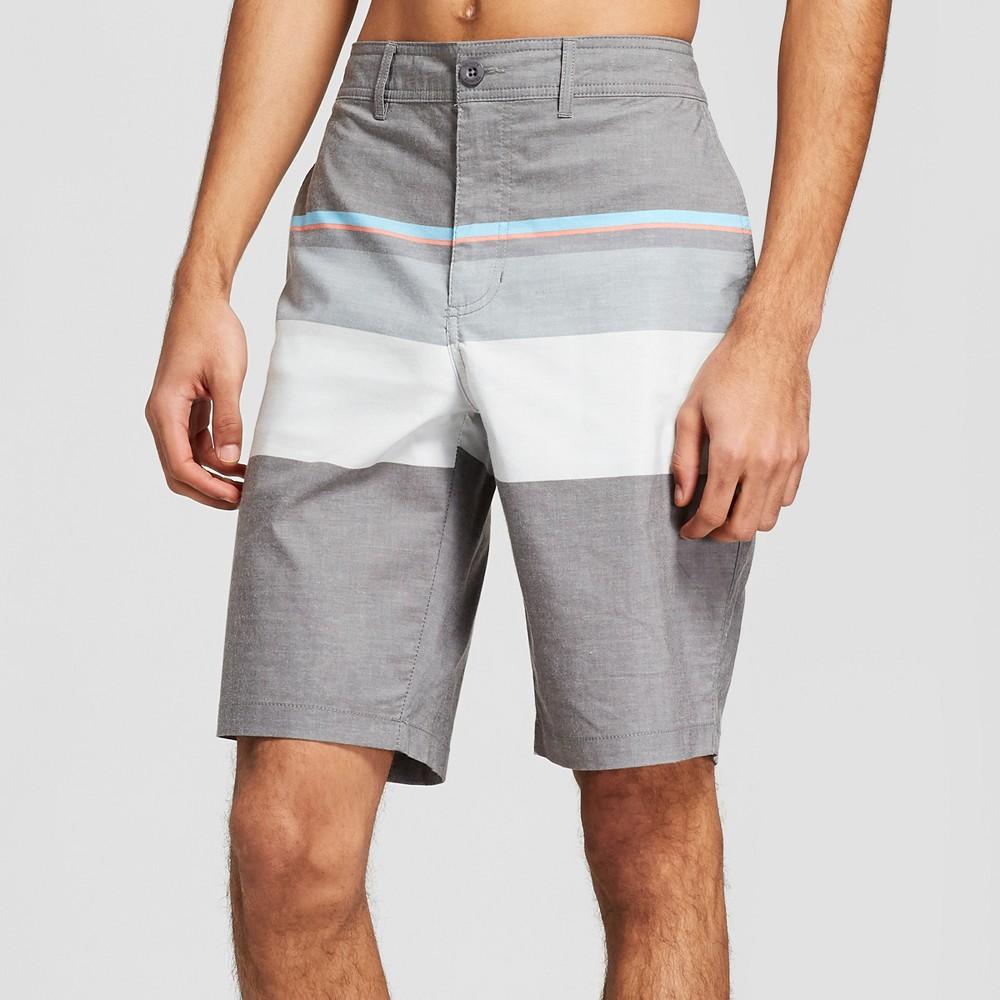 Men's Striped 10.5 Saleen Hybrid Swim Shorts - Trinity Black 36