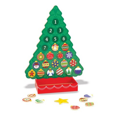 Melissa & Doug® Wooden Advent Calendar - Magnetic Christmas Tree, 25 Magnets