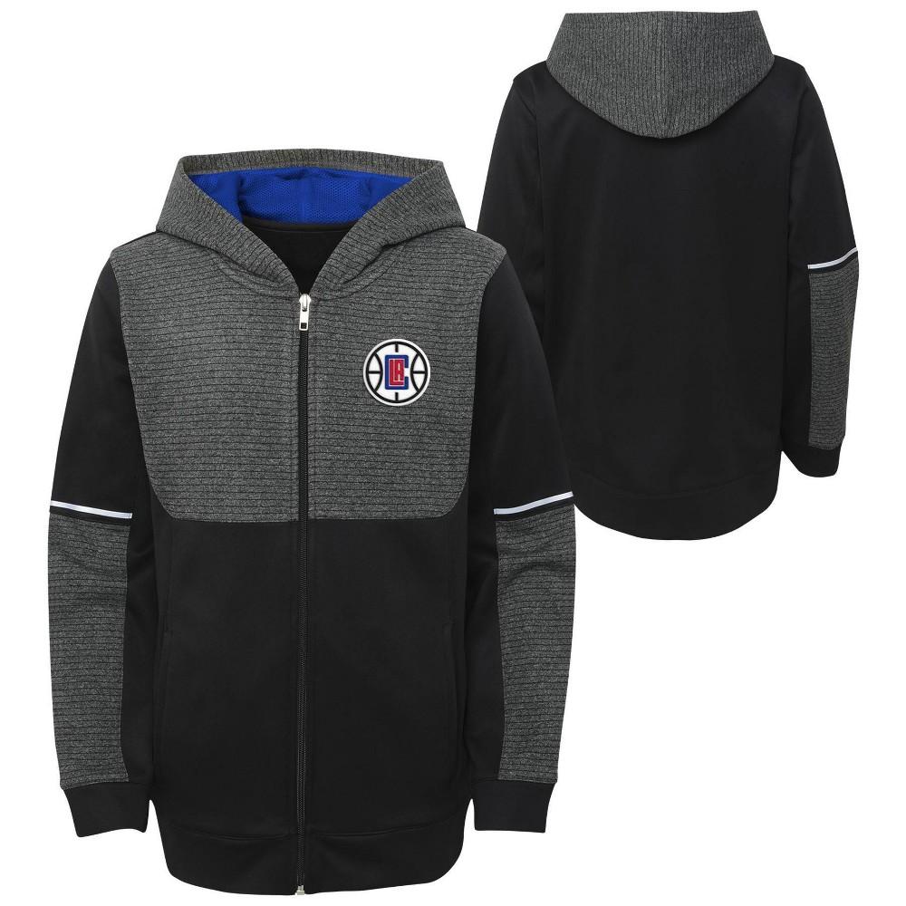 Nba Los Angeles Clippers Boys 39 Black Full Zip Hoodie L