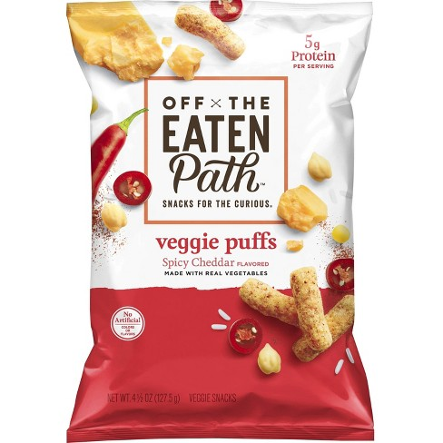 Off The Eaten Path Spicy Cheddar Veggie Puffs - 4.5oz - image 1 of 3