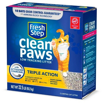 Fresh Step Triple Action Clumping Scented Cat Litter - 22.5lbs