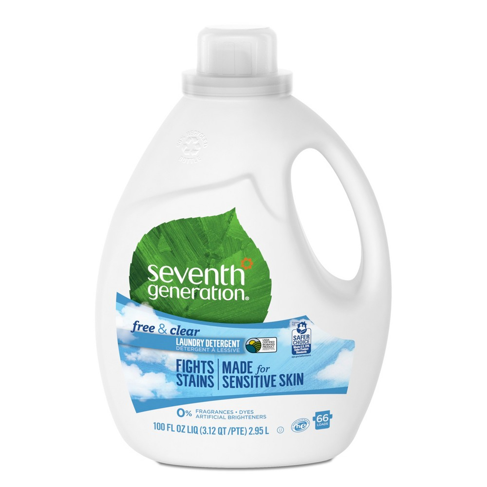 Seventh Generation Free & Clear Natural Liquid Laundry Detergent - 100oz