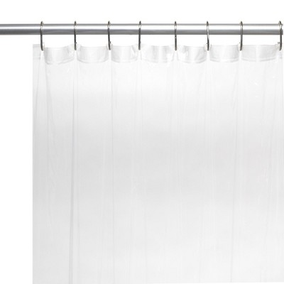 """Carnation Home Fashions 78"""" Extra Long 5 Gauge Vinyl Shower Liner with Metal Grommets 70 x 78"""