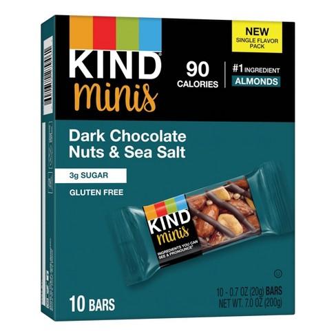 KIND Minis Dark Chocolate Nuts Sea Salt - 0.6 / 10ct - image 1 of 4