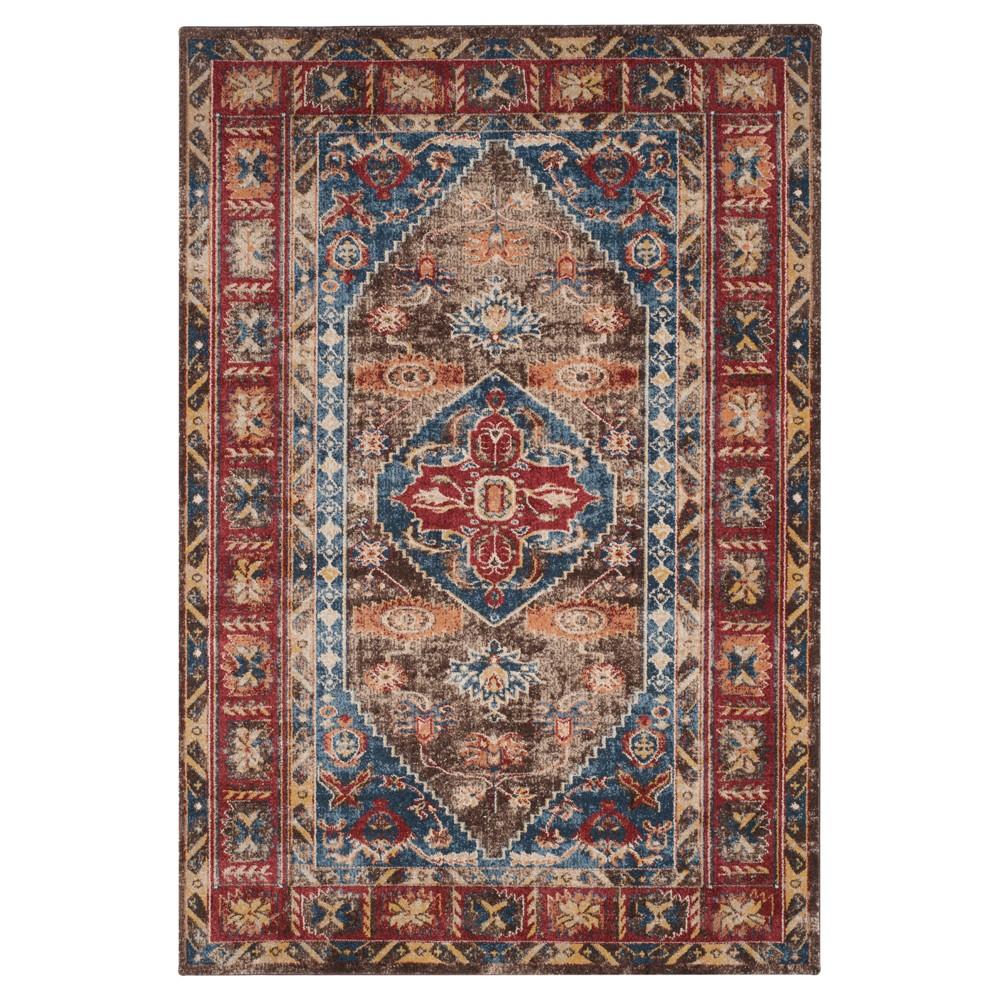 Bijar Rug - Brown/Royal - (6'7X9') - Safavieh