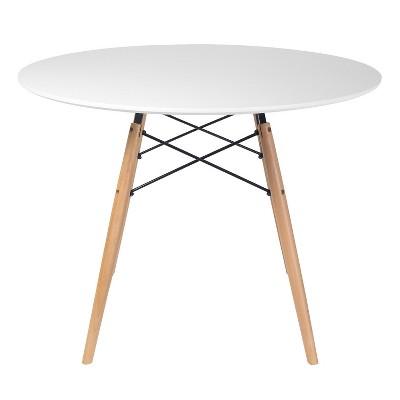 """32"""" Parisian Round Dining Table White - Aeon"""