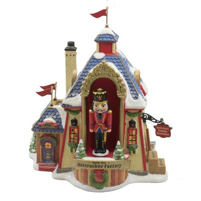 """Department 56 House 8.0"""" North Pole Nutcracker Factory Rotate Animated  -  Decorative Figurines"""