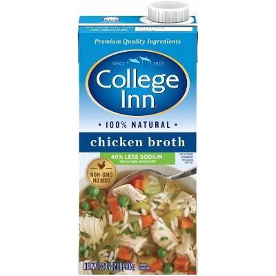 College Inn Fat Free Lower Sodium Chicken Broth 32oz