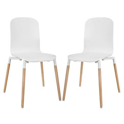Stack Dining Chairs Wood - Modway - image 1 of 4