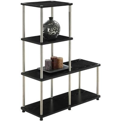 "41.75"" Multi Shelf L Bookshelf Black - Breighton Home : Target"