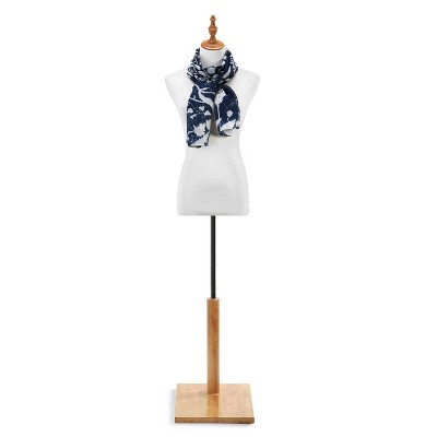 DEMDACO LS Rectangle Scarf - Navy Floral Blue
