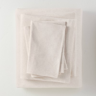 Queen Jersey Solid Sheet Set Natural - Casaluna™