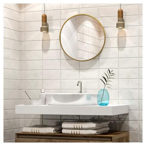 . Decorative Circular Wall Mirror   Brass   Project 62