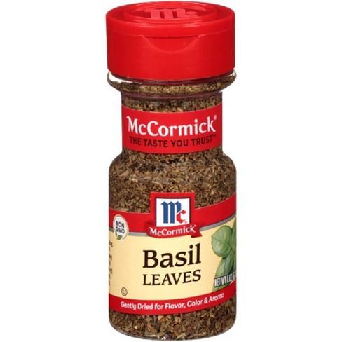 McCormick Basil Leaves Dried Herb Seasoning - .62oz - image 1 of 4