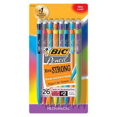 BIC #2 Xtra Strong Mechanical Pencils, 0.9mm, 26ct - Multicolor