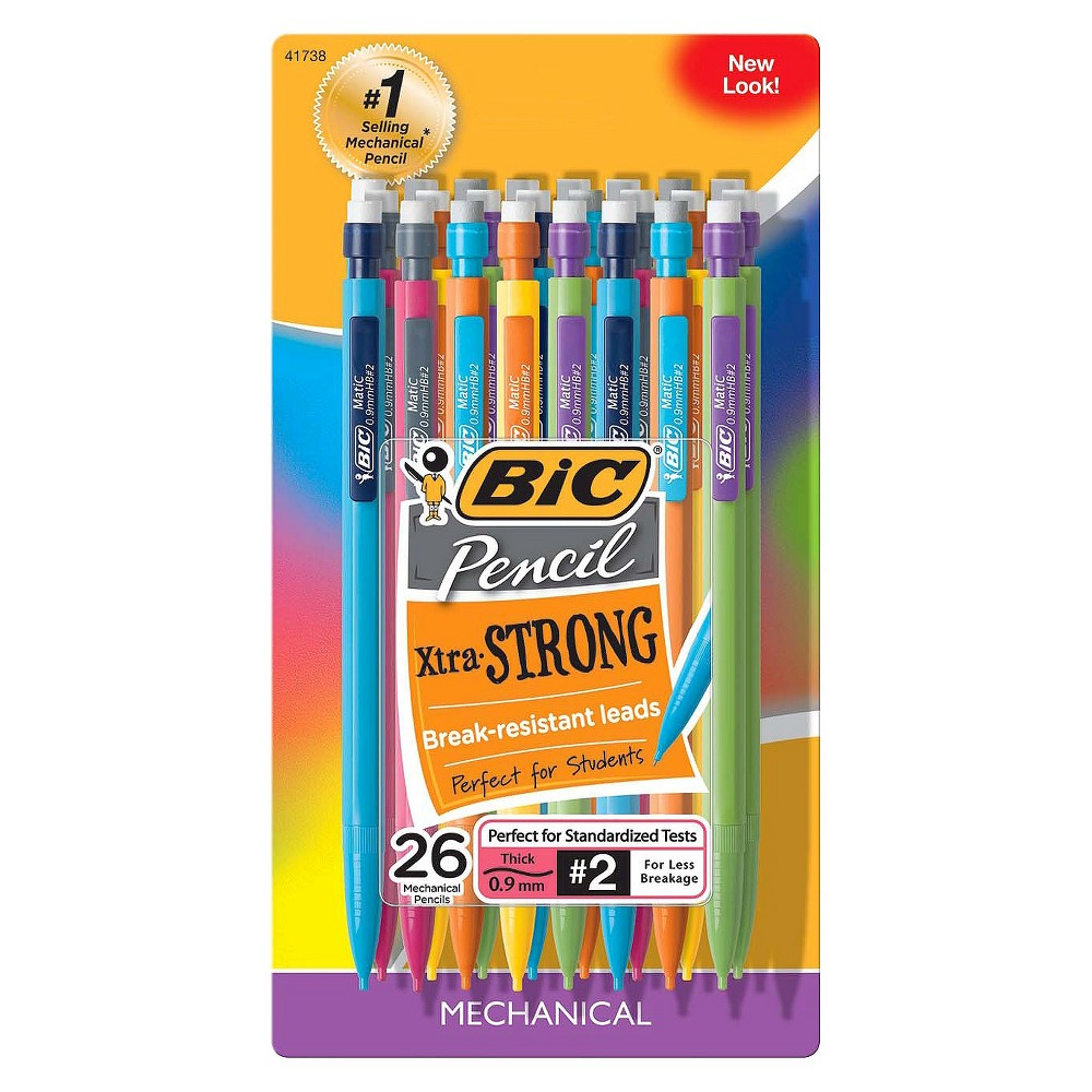 BIC #2 Xtra Strong Mechanical Pencils, 0.9mm, 26ct - Multicolor was $6.89 now $4.29 (38.0% off)