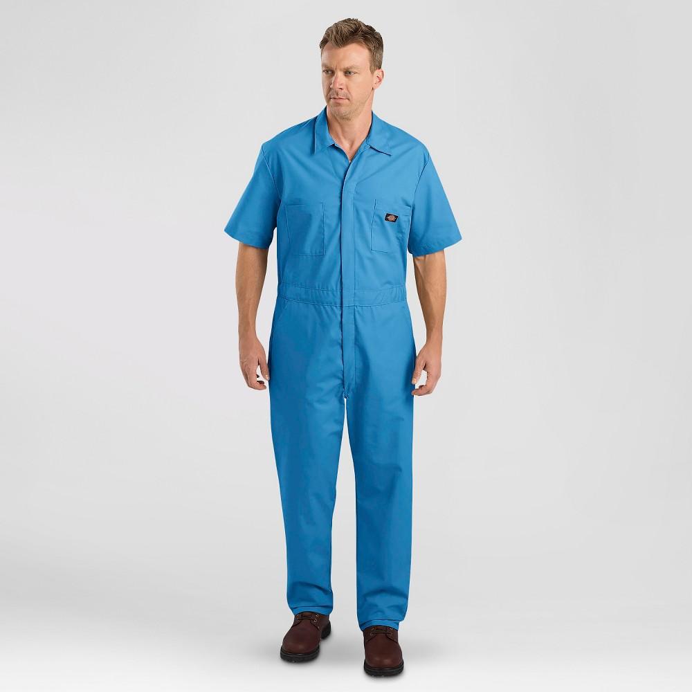 Dickies Men's Short Sleeve Coverall- Medium Blue Xxl