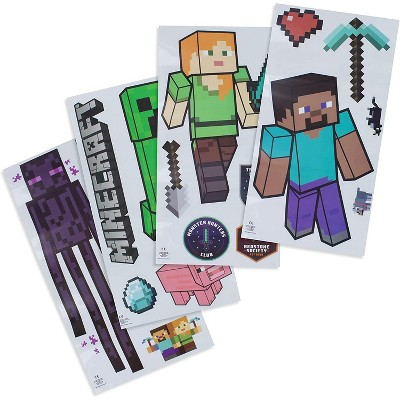 Paladone Products Ltd. Minecraft Characters Removable Vinyl Stickers   4 Sheets, 19 Decals