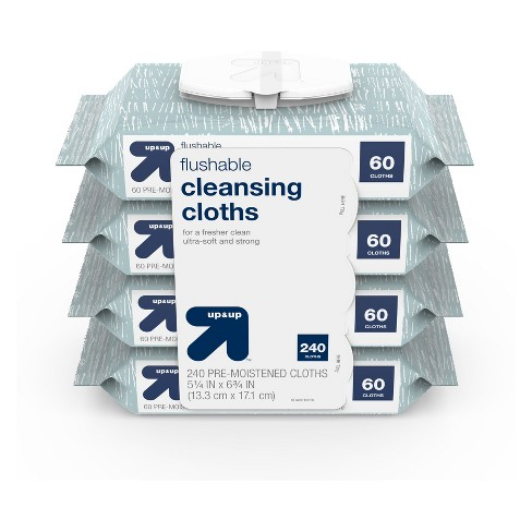 Flushable Cleansing Cloths - 240ct - Up&Up™ - image 1 of 3