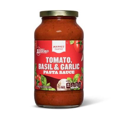 Tomato Basil & Garlic Pasta Sauce 26oz - Market Pantry™