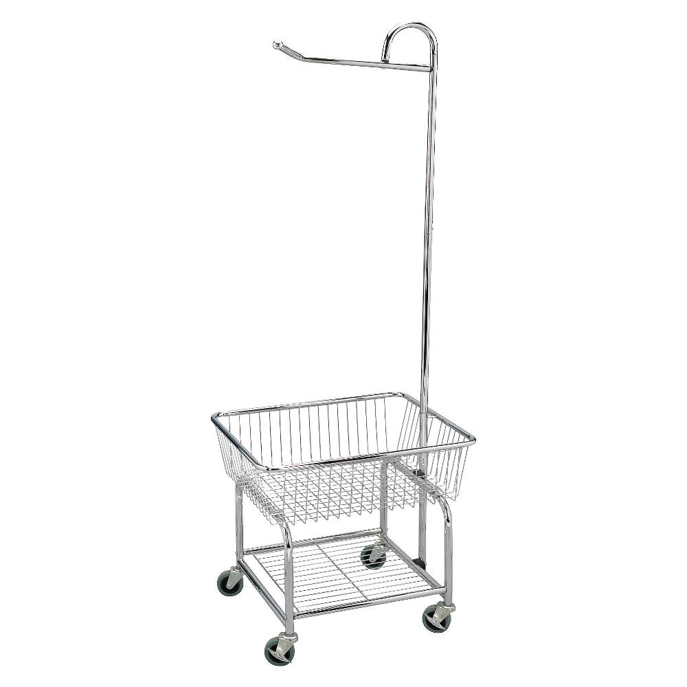 Household Essentials Chrome Laundry Cart, Commercial Chrome
