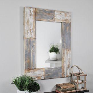"31.5""x24"" Mason Planks Mirror Gray - FirsTime"
